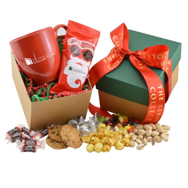Custom Logo Mug and Hershey Kisses Gift Box