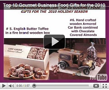 Top 10 Gourmet Business Food Gifts for the 2010 Holiday Season Video