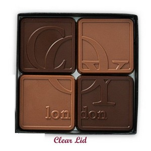 Chocolate Assortment with Clear Lid 4-Piece - No Band