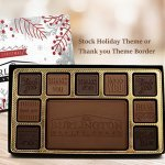 20pc Chocolate Assortment with Solid Chocolate Stock Border