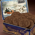 Logo Chocolate Cookies in Currier & Ives Rectangle Tin 12 Cookies