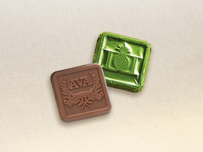 Custom Chocolate Foil Squares