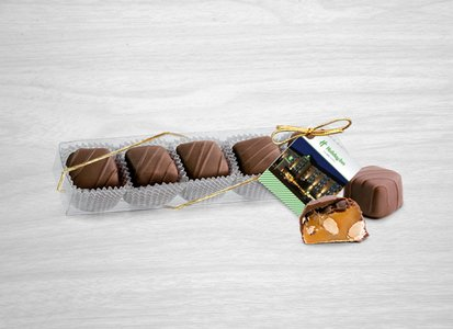 Milk Almond Caramels (5pc) with Custom Hang Tag