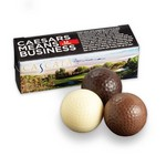 Custom Chocolate Golf Balls in Full Color Gift Box