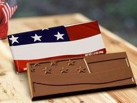 Stars & Stripes Chocolate Wrapper Bars-Large