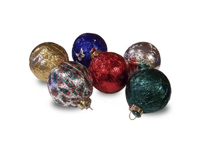 Ornaments in Assorted Foil Colors - Stock No Logo