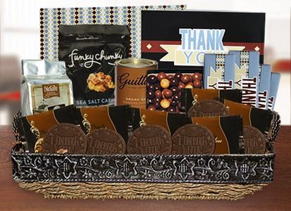 Thank You Basket-Black Brown  - Stock No Logo