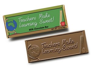 Teachers Make Learning Sweet Wrapper Bars