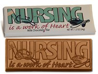 Nursing is a Work of Heart Wrapper Bars - Stock