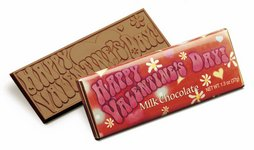 Happy Valentine's Day Wrapper Bars - Stock