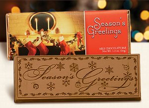 Season's Greetings Wrapper Bars - Stock No Logo