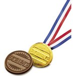 Excellence Chocolate Medallion with Ribbon - Stock