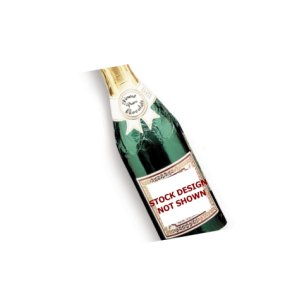 New Year Champagne Bottle - Stock No Logo