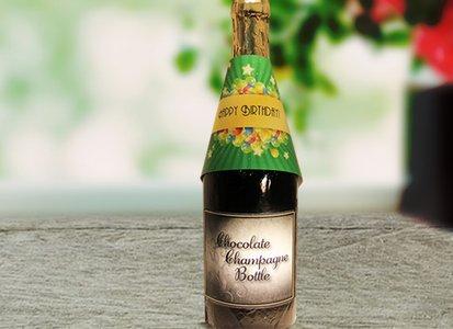 Happy Birthday Chocolate Champagne Bottle