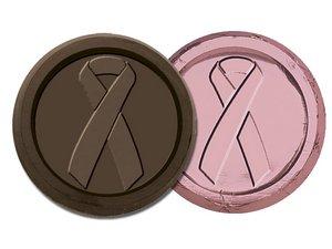 Breast Cancer Awareness Coin-Dark Chocolate