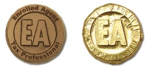 Milk Chocolate Enrolled Agent Coins in Gold Foil
