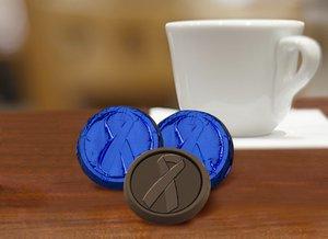 Colon Cancer Awareness Chocolate Coin - Dark