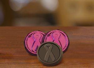 Pancreatic Cancer Awareness Chocolate Coin - Dark