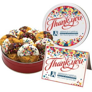 NEW Dipped Celebration Sprinkle Cookies - Small Tin