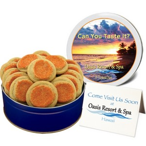 Orange Sugar Cookies in a Small Gift Tin