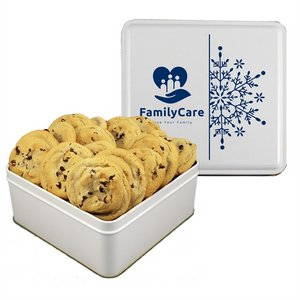 Gourmet Chocolate Chip Cookies - Square Tin