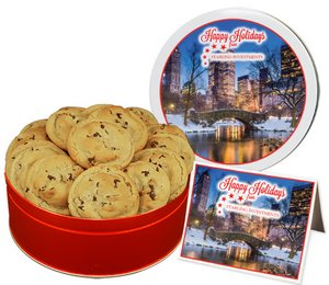 Gourmet Chocolate Chip Cookies in Regular Size Gift Tin