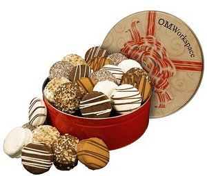 Fancy Dipped Cookies Creams in Regular Size Gift Tin