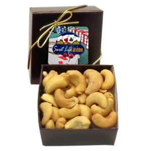 Jumbo Brazilian Cashews in Gift Box with Custom Label (2 oz)