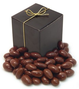 Chocolate Covered Almonds (7 oz.) in a Treat Cube