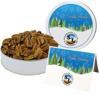 Southern Mammoth Pecan Halves in Gift Tin (8 oz. in Small Tin)