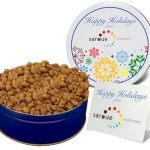 Honey Roasted Peanuts Nut Gifts in Designer Gift Tin
