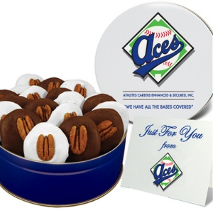 Chocolate Pecan Turtles in Regular Size Gift Tin