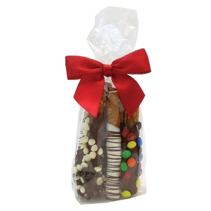 Chocolate Penny Rods in Clear Mini Gift Bag (6 rods)