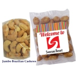 Jumbo Brazilian Cashews in Individual Logo Clear Bags  (1 oz.)