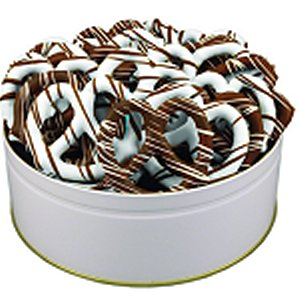 Mid-Size Chocolate Pretzels in Regular Size Gift Tin