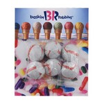Billboard Bag with Chocolate. Baseballs