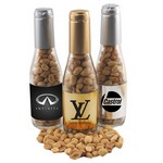 Champagne Bottle with Peanuts