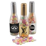 Champagne Bottle with Conv Hearts