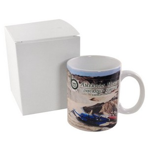 Full Color Coffee Mug in White Gift Box