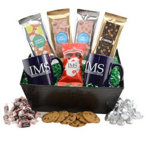 Tray with Mugs  and Hershey Kisses