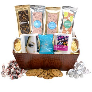 Tray with Mugs and Tootsie Rolls
