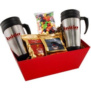 Tray with Mugs and Jelly Bellies