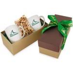 2 Mug Gift Box- Caramel Popcorn