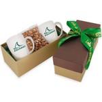 2 Mug Gift Box- Honey Roasted Peanuts