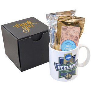 Soft Touch Gift Box with Full Color Mug and Hot Chocolate
