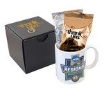 Soft Touch Gift Box with Full Color Mug and Gourmet Tea