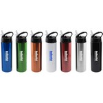 24 oz Stainless Steel Water Bottle with Flip Top Sport lid