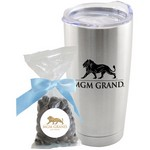 Tumbler with Dark Chocolate Almonds Mug Drop