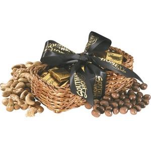 Gift Basket with Chocolate Baseballs