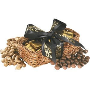 Gift Basket with Chocolate Basketballs